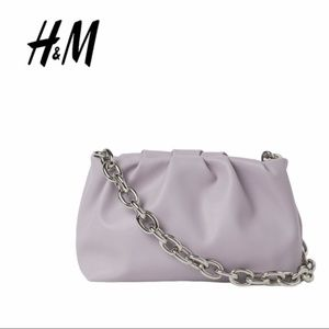 🆕 H&M | Pleated Purple Bag with Chain Strap